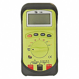 Digital Multimeter, Full Size Multimeter Style, 600 Max. AC Volts, 600