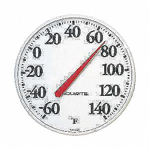 Analog Thermometer,-60 to 140 Degree F