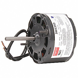 1/100 HP, HVAC Motor, Shaded Pole, 1550 Nameplate RPM, 115 Voltage, Frame 3.3