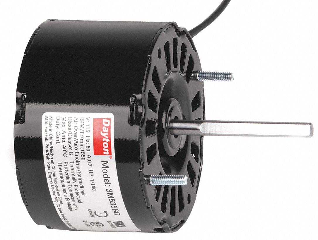 Dayton Hvac Motor 1 100 Hp 1550 Rpm 115v 3 3 3m535 3m535
