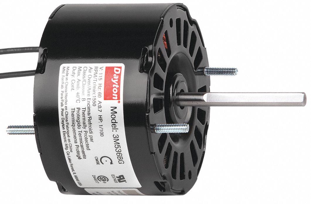 Dayton Hvac Motor 1 100 Hp 1550 Rpm 115v 3 3 3m536 3m536