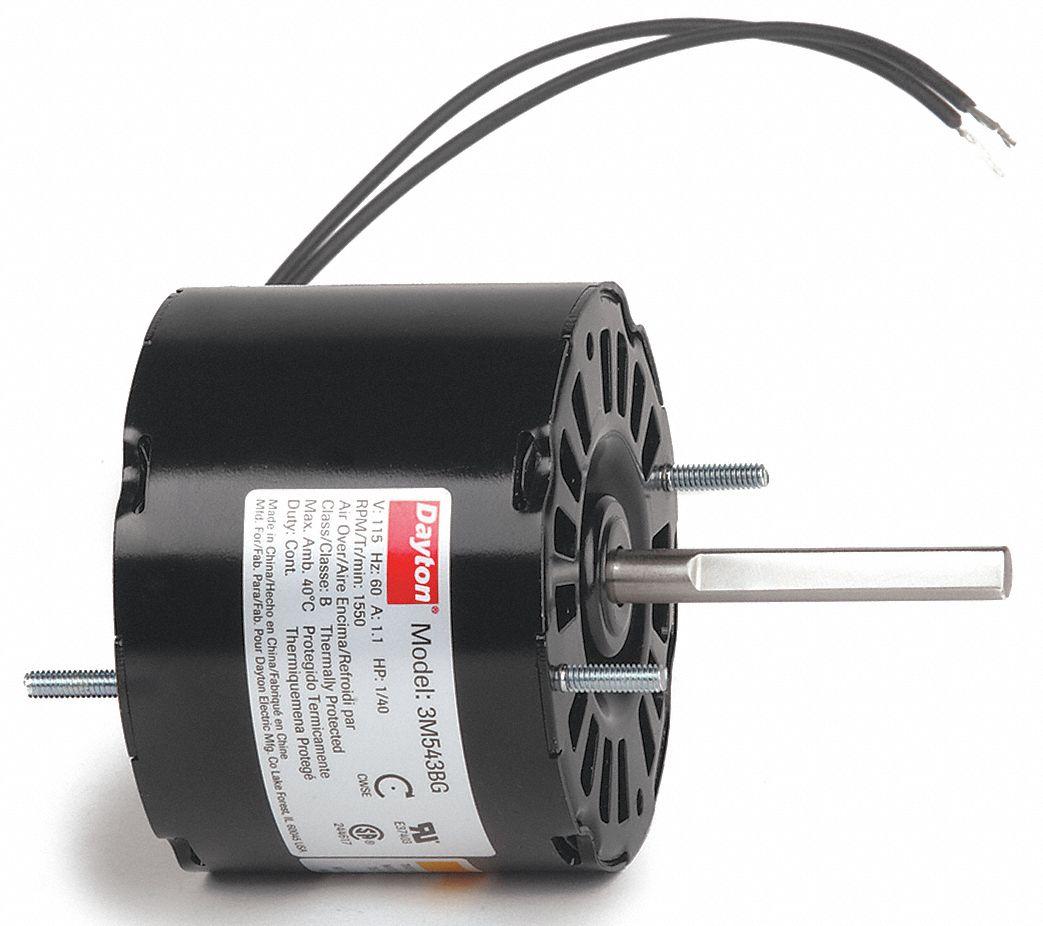 Dayton Hvac Motor 1 40 Hp 1550 Rpm 115v 3 3 3m543 3m543