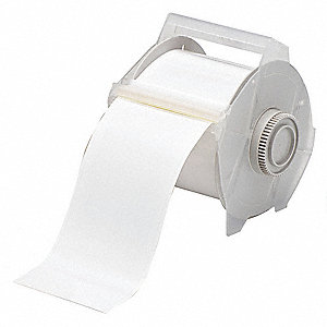 "White Vinyl Film Label Tape Cartridge, Indoor/Outdoor Label Type, 100 ft. Length, 2-1/4"" Width"