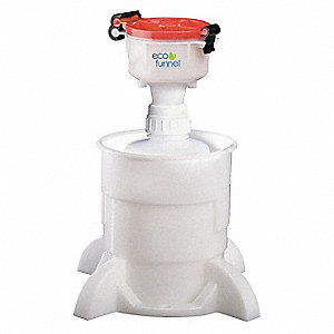4 In Safety Funnel,2 L Bottle,Container