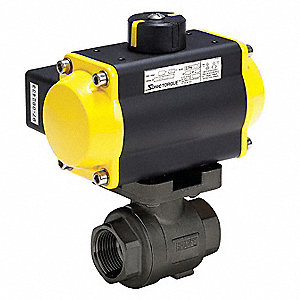 Ball Valve,Pneumatic Actuated,3/4 In