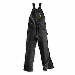 "Men's Firm Hand Bib Overalls, Lining Material: 100% Arctic Quilted, Inseam: 32"", Fits Waist Size: 34"