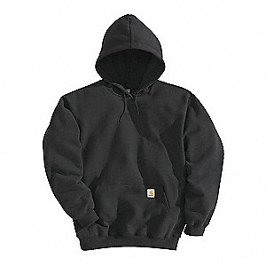 Hooded Sweatshirt,Black,Cotton/PET,2XL