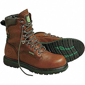 Work Boots,Pln,Mens,9-1/2,Brown,PR