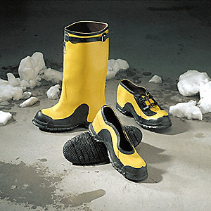 "Yellow/Black Dielectric Overboots, Size: 7, 17"" Height"