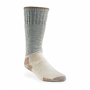 Mid-Calf 65% Wool, 25% Acrylic, 9% Nylon, 1% Lycra Spandex Outdoor Socks, Men's, Gray, 1 PR