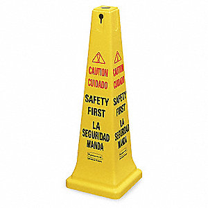 Safety Cone, Caution Safety First,Eng/Sp