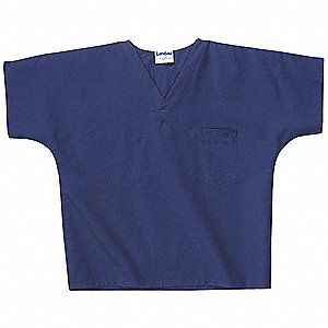 Scrub Shirt,XL,Navy,Unisex