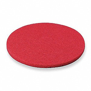"19"" Red Buffing Pad, Package Quantity 5"