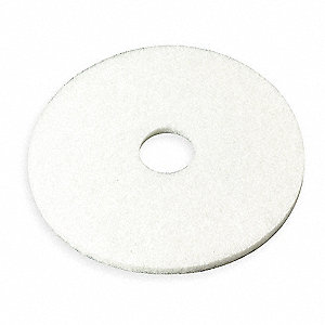 "19"" White Polishing Pad, Package Quantity 5"