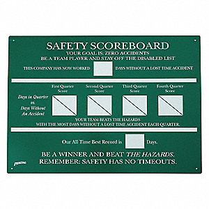 Safety Record Signs,23-3/4 x 35-3/4In,AL
