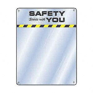 Notice Sign,17 x 15In,YEL and BK/BL,ENG
