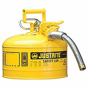 Type II Safety Can,12 In. H,Yellow
