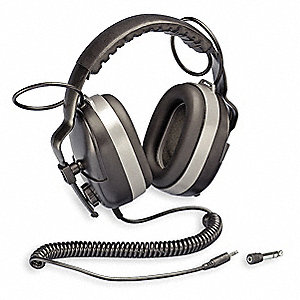 Electronic Ear Muff,25dB,Over-the-H,Bk