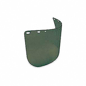 Faceshield Visor,Polycarb,Grn,8x15-1/2in