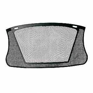 Faceshield Visor,Nylon Mesh,Black,7x13in