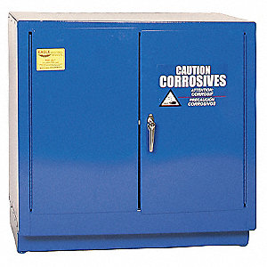 Corrosive Safety Cabinet,Manual,22 gal.