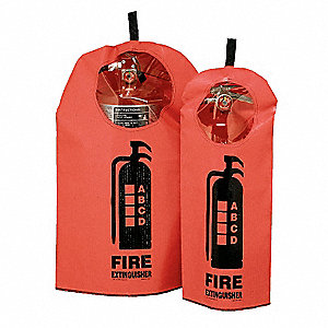 Fire Extinguisher Cover w/Window, Fits Tank Size 5 to 13 lb.