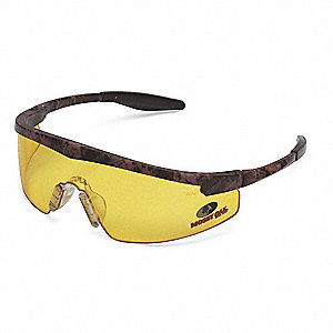 Safety Glasses,Amber,Scratch-Resistant