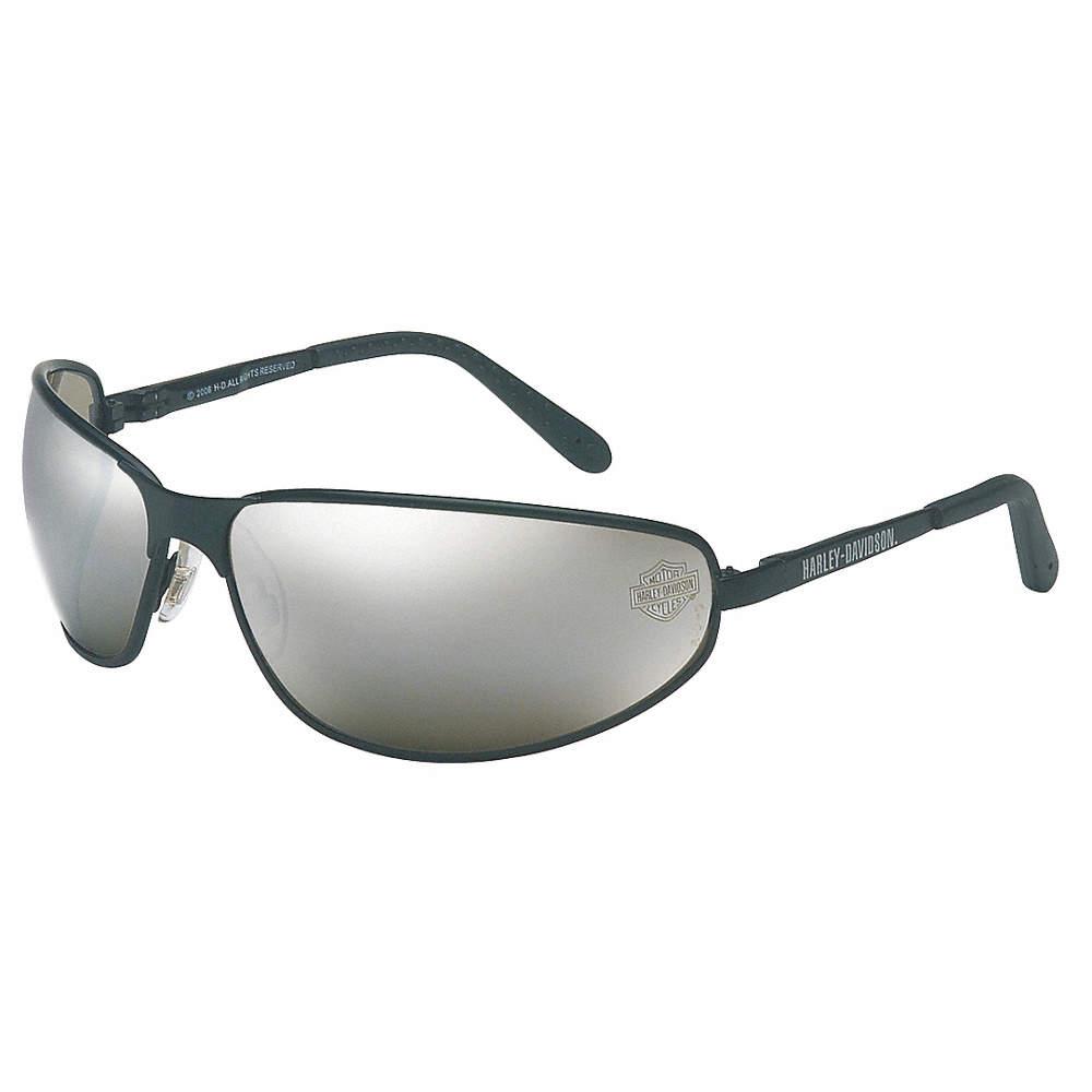 HARLEY DAVIDSON SAFETY EYEWEAR Harley Davidson Safety Eyewear HD513 Safety Glasses, Slvr Mirror, Scrtch-Rsstnt HD513