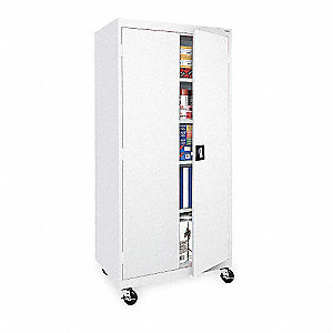 "White 5S Storage Cabinet, 78"" Overall Height, 36"" Overall Width, Number of Shelves 4"