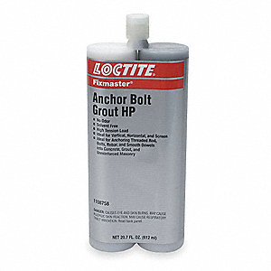 Gray Anchor Bolt Grout HP Kit, 20.7 oz. Size, Coverage: Not Specified