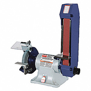 Combo Belt & Bench Grinder,8 In Dia,2x48