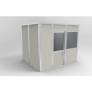Modular In-Plant Office,4Wall,8x10,Vinyl
