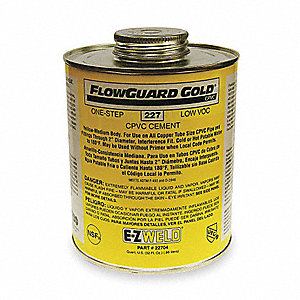 CPVC One-Step Cement,32 Oz,Yellow