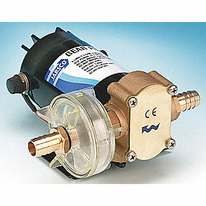 Rotary Gear Pump With Motor, 45 psi, Bronze, 1/6 HP,   Phase