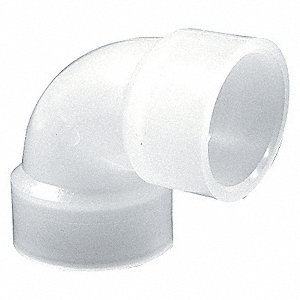 "1"" Elbow, 90°, Polypropylene, Max. Pressure 150 psi, White"