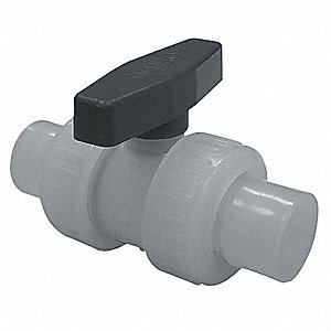Polypropylene Inline, True Union Ball Valve, Socket x Socket
