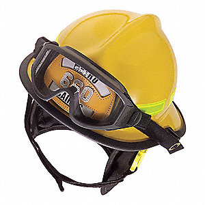 Yellow Fire Helmet, Shell Material: Thermoplastic, Ratchet Suspension, Fits Hat Size: 5-5/8 to 7 5/8