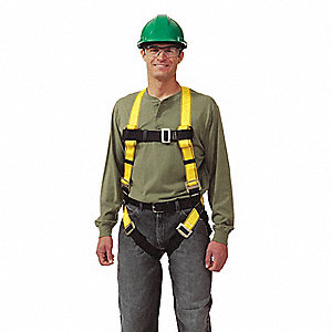 Full Body Harness,XL,Yellow
