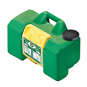 Eyewash Station,Compact,Portable,Green