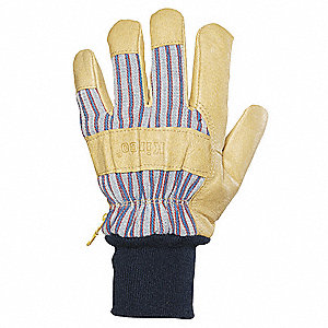 Leather Gloves,Grain Pigskin,M,PR