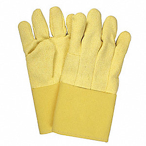 Heat Resistant Gloves, Kevlar®, 600°F Max. Temp., One Size Fits Most, PR 1