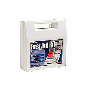 First Aid Kit,Bulk,White,181 Pcs