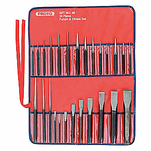 Punch and Chisel Set,26 Pieces