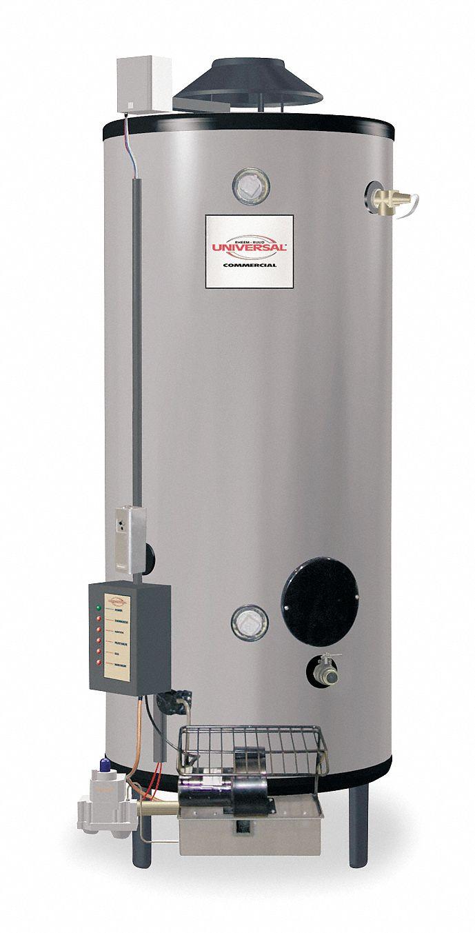 Rheem Ruud Commercial Gas Water Heater 91 0 Gal Tank