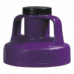 Utility Lid,w/2 In Outlet,HDPE,Purple