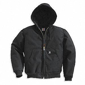 Hooded Jacket,Insulated,Black,XL