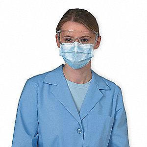 Surgical Mask,Light Blue/White,PK50