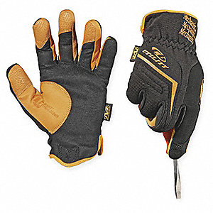 Leather Mechanics Gloves, Synthetic Leather Palm