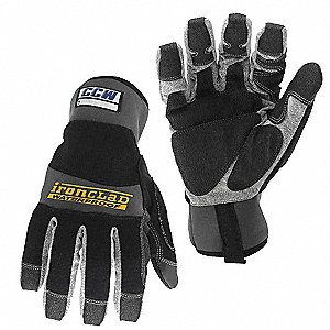 Cold Protection Gloves, Unlined Lining, Gauntlet Cuff, Black, M, PR 1