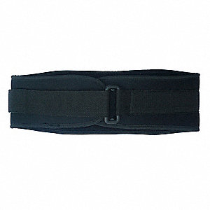 "Black Nylon Back Support with Foam Core, Back Support Size: L, 6"" Width, Fits Waist Size 37"" to 43"""